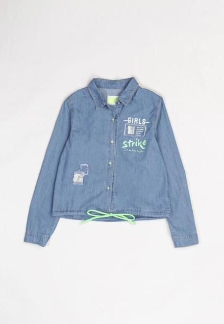 Multu  Niebiesko-Zielona Koszula Aeres Рубашка Голубой оптом