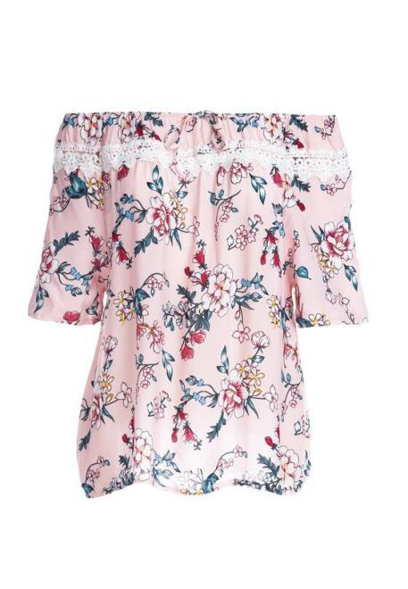 Multu  Różowa Bluzka Melonel Блузка Розовый оптом