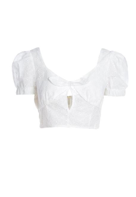 Multu  Biała Bluzka Idaxe Блузка Белый оптом
