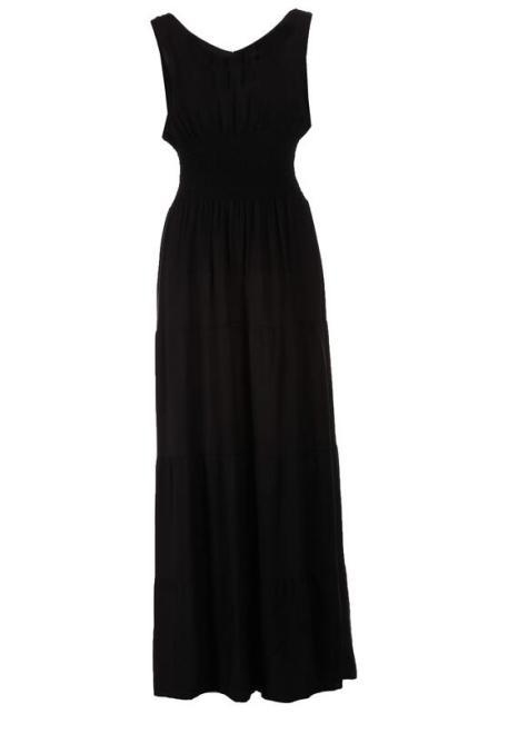 Multu  Czarna Sukienka Nethiph Платье Черный оптом