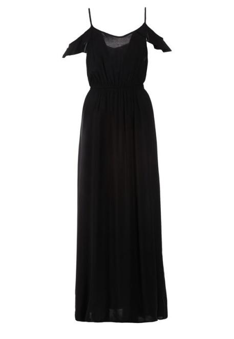 Multu  Czarna Sukienka Thosthi Платье Черный оптом