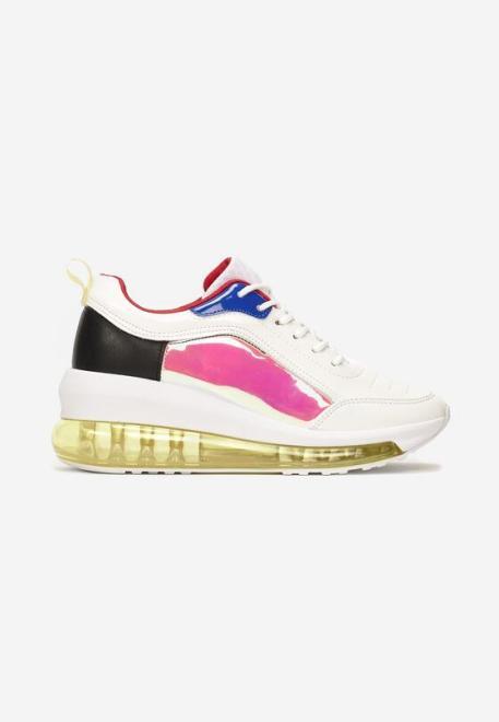 Multu  Biało-Różowe Sneakersy Eshirerr Кроссовки Белый оптом