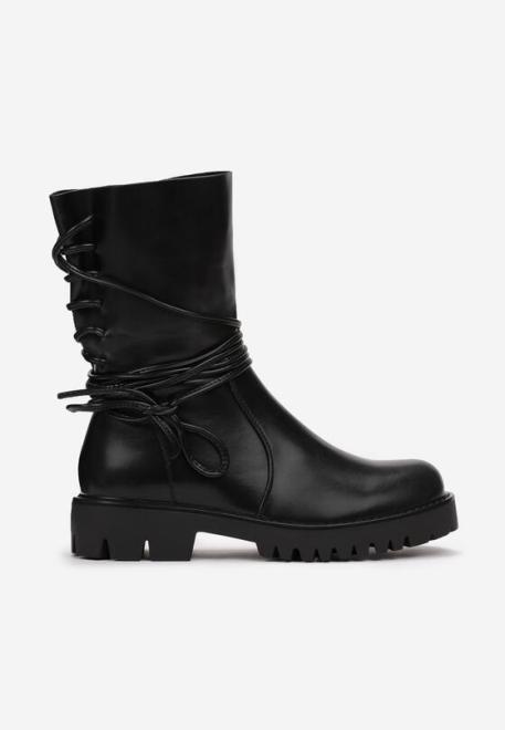 Multu  Czarne Botki Orilop Ботинки Черный оптом
