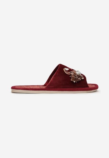 Multu  Czerwono-Złote Kapcie Corraere Домашняя обувь Красный оптом