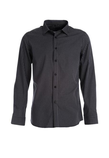 Multu  Czarno-Szara Koszula Lo Рубашка Черный оптом