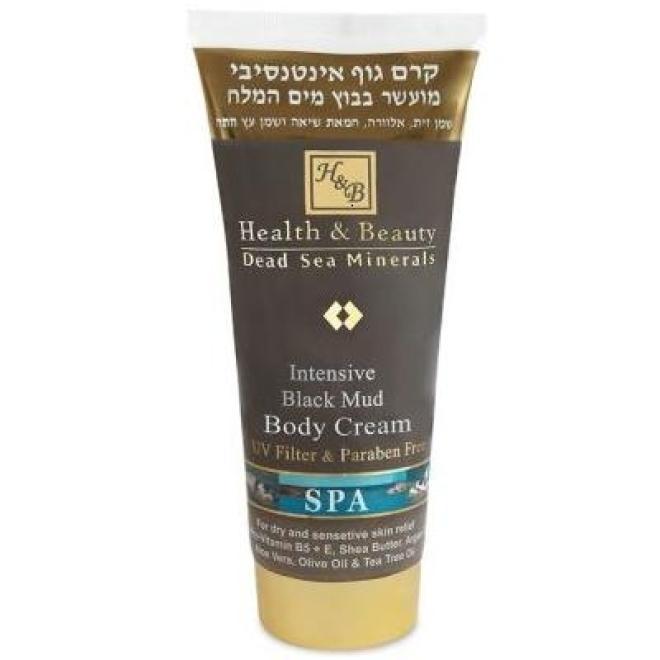 Health&Beauty Izrael  Intensywny krem pielęgnacyjny do ciała z błotem z Morza Martwego Health & Beauty Intensive Black Mud Body Cream 200ml Целлюлит, упругость кожи тела  оптом