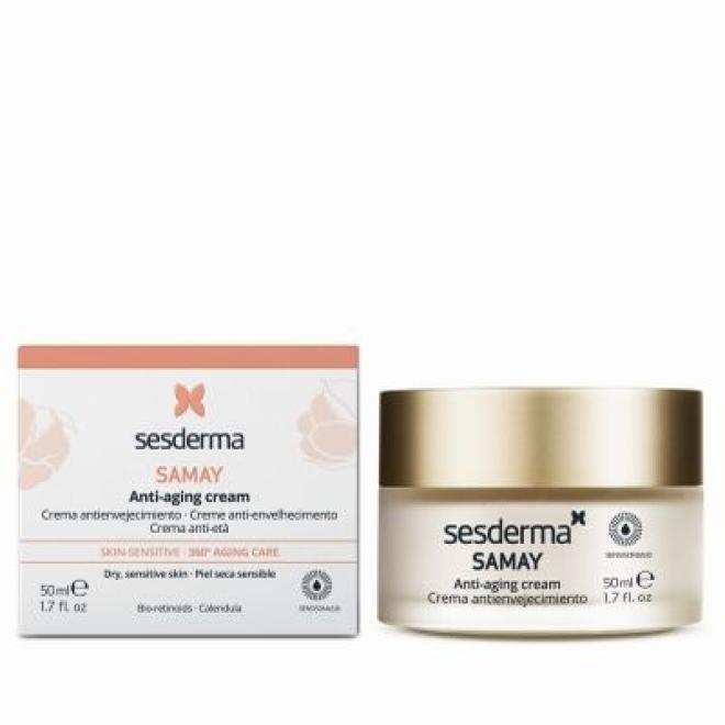 Sesderma  Sesderma Samay Anti Aging Cream Krem przeciwstarzeniowy odżywczy do skóry wrażliwej 50 ml Крем универсальный  оптом
