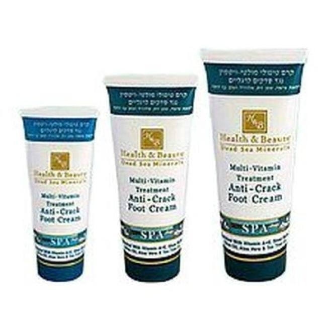 Health&Beauty Izrael  Krem do stóp multiwitaminowy terapeutyczny z minerałami z Morza Martwego Multi Vitamin Anti-Crack Foot Cream Health&Beauty 180ml Уход руки, стопы  оптом
