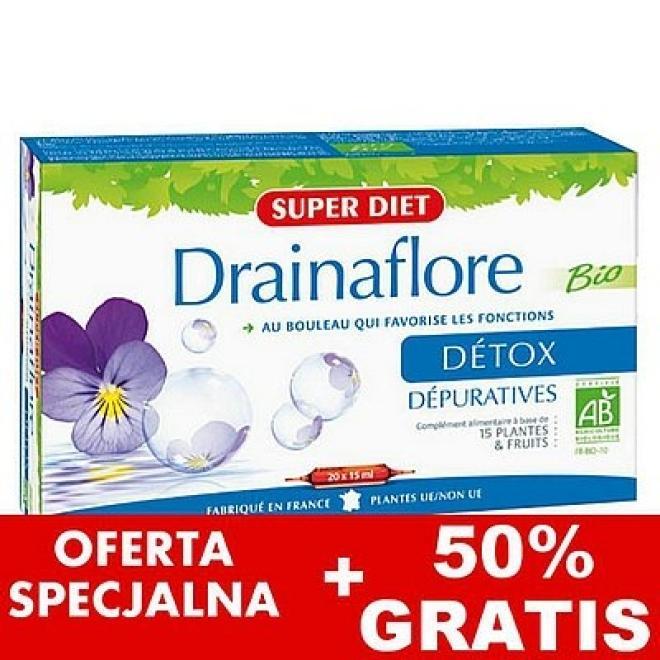 Super Diet  Super Diet DETOX DRAINAFLORE preparat oczyszczający detoksykujący 30 x 15ml Биодобавки --//-- оптом