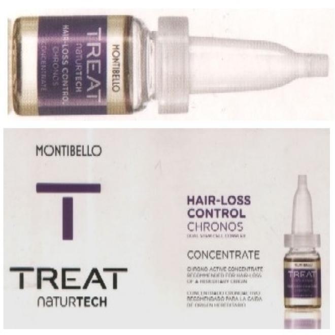 Montibello  Ampułki Montibello Treat NaturTech Hair-Loss Control Chronos koncentrat przeciw wypadaniu włosów 10 x 7 ml Волосы - бальзам, ампулы --//-- оптом