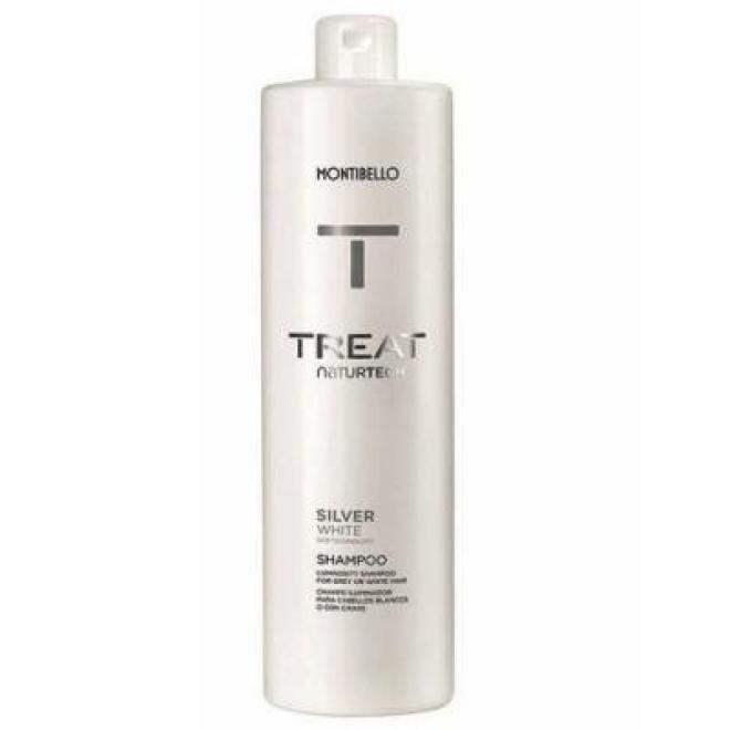 Montibello  Szampon Montibello Treat NaturTech Silver White niwelujący żółty odcień do włosów siwych 1000 ml Волосы - шампуни  оптом