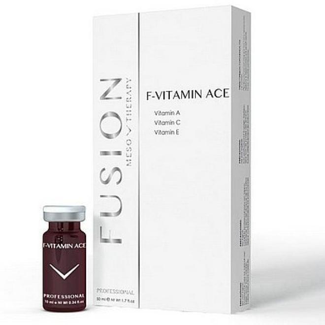 Fusion Mesotherapy  Ampułki FUSION F-Vitamin ACE do mezoterapii igłowej 5 x 10ml Мезотерапия иглами  оптом