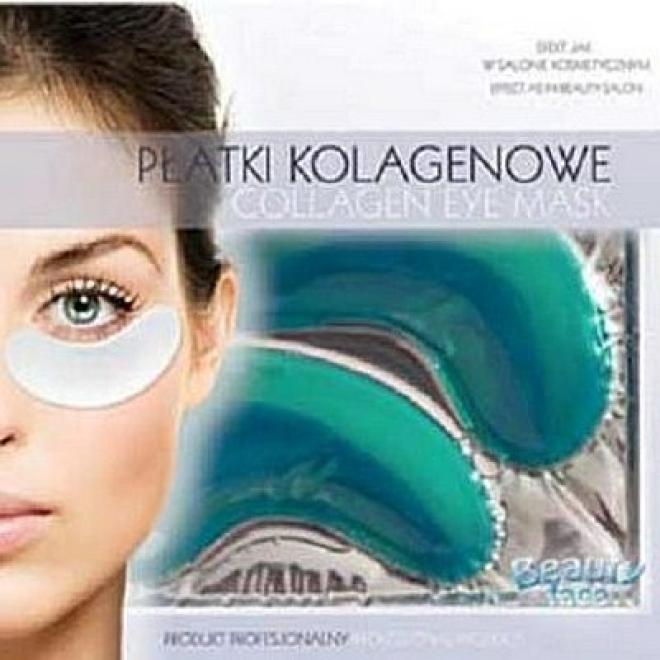 Beauty Face  Płatki pod oczy kolagenowe rozjaśniające odżywcze z algami i ekstraktem z ogórka 1 para Маски коллаген кристаллический  оптом