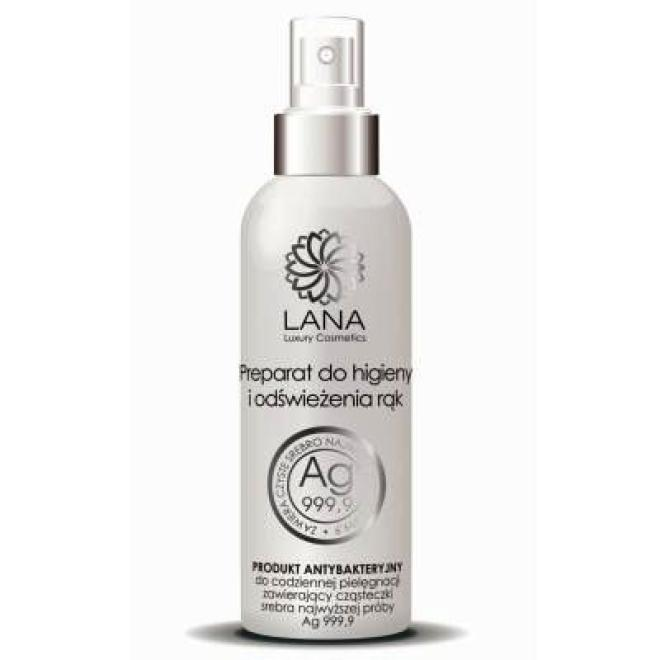 NaturaMedica  Preparat do higieny i odświeżania rąk ze srebrem Lana Luxury Cosmetics Natura Medica 200 ml Дезинфекция и моющие средства --//-- оптом