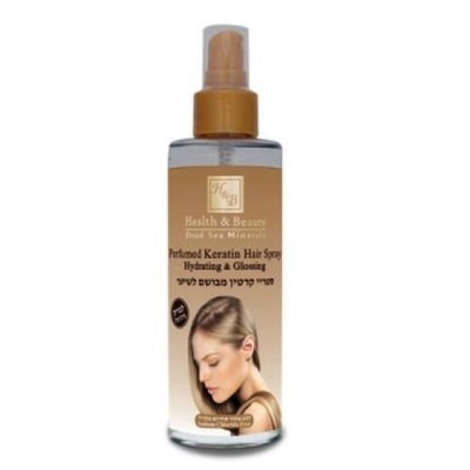 Health&Beauty Izrael  Spray do włosów z keratyną Perfumed Keratin Hair Spray odżywianie połysk Health&Beauty 200ml Волосы - бальзам, ампулы  оптом