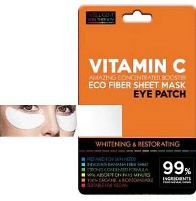 Beauty Face  Płatki pod oczy AKTYWNA WITAMINA C odbudowa i wzmocnienie cienkiej skóry Intelligent Skin Therapy Beauty Face 1 para Крем и препараты для области глаз   оптом