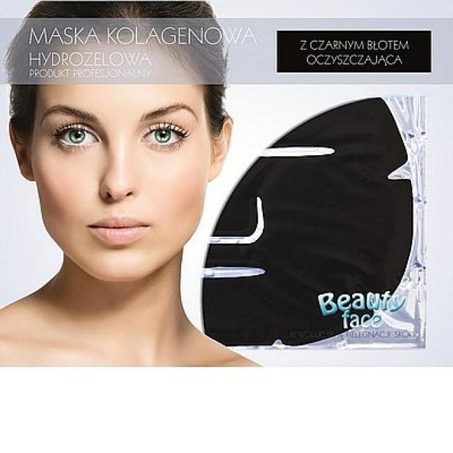Beauty Face  Maska na twarz antytrądzikowa antybakteryjna oczyszczająca płat kolagenowy Маски коллаген кристаллический  оптом