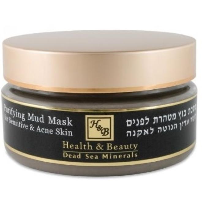 Health&Beauty Izrael  Maska błotna oczyszczająca do skóry wrażliwej z minerałami z Morza Martwego Health&Beauty Purifying Mud Mask 220ml Маски кремовые и грязевые  оптом