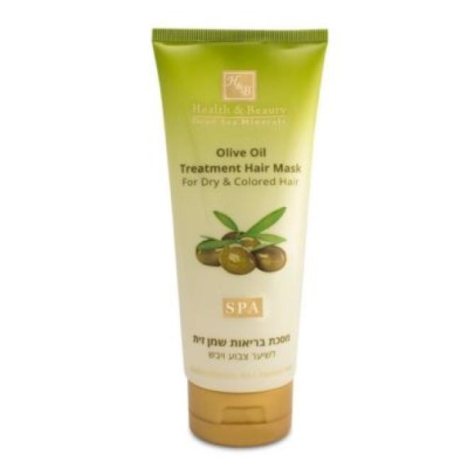 Health&Beauty Izrael  Maska terapeutyczna z oliwą z oliwek do włosów suchych i farbowanych z minerałami z Morza Martwego Health&Beauty 200 ml Волосы - бальзам, ампулы  оптом