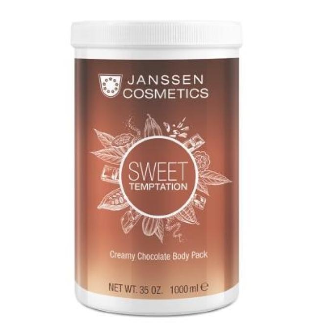 Maska kremowa z ekstraktem kakao Janssen Creamy Chocolate Body Cream (8686p) wygładzająca 1000 ml Целлюлит, упругость кожи тела  оптом