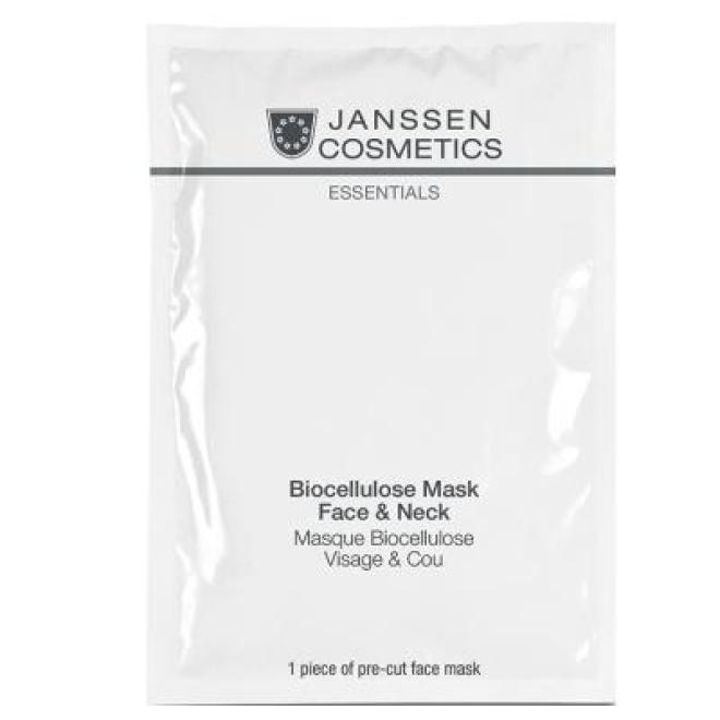 Janssen Cosmetics  Maska biocelulozowa na twarz i szyję Janssen Biocellulose Mask Face & Neck (8206p1) 1 szt. Маски тканевые  оптом