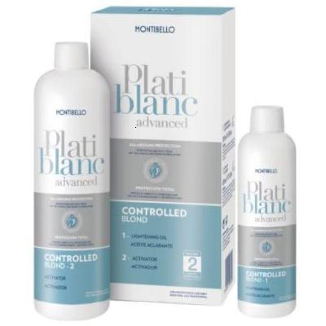 Montibello  Rozjaśniacz Montibello Platiblanc Advanced Controlled Blond 200 ml + 400 ml Волосы - краска, укладка  оптом
