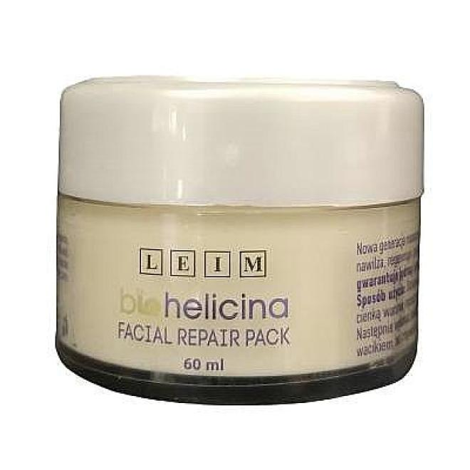 Leim  Maska kremowa rewitalizująca do masażu ze śluzem ślimaka Facial Repair Pack Biohelicina Leim 60 ml Маски кремовые и грязевые  оптом