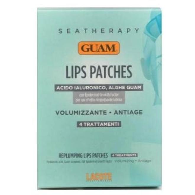 Płatki Guam Seatherapy Lips Patches powiększające i odmładzające usta 4 saszetki Уход губы  оптом