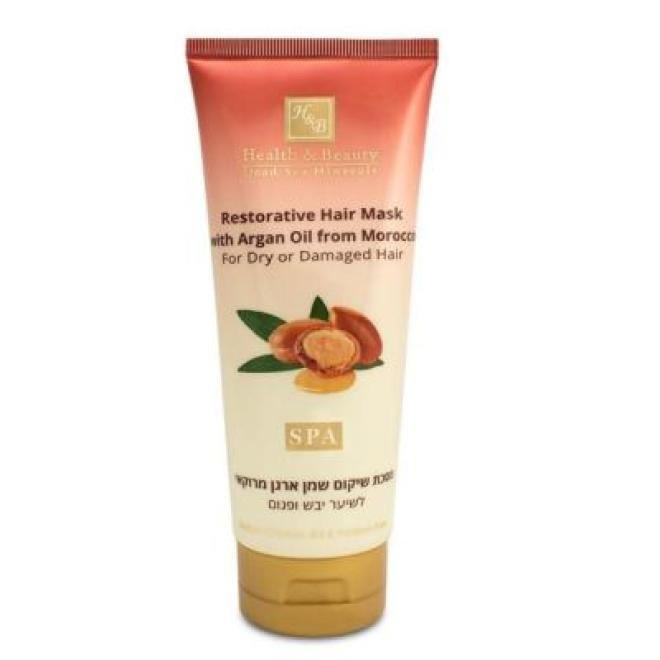 Health&Beauty Izrael  Maska do włosów suchych i zniszczonych Health&Beauty Restorative Hair Mask with Argan Oil regenerująca z olejkiem arganowym 200ml Волосы - бальзам, ампулы  оптом