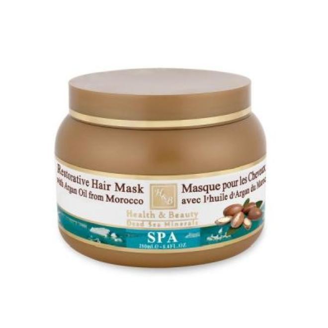 Health&Beauty Izrael  Maska do włosów suchych i zniszczonych Health&Beauty Restorative Hair Mask with Argan Oil regenerująca z olejkiem arganowym 250ml Волосы - бальзам, ампулы  оптом