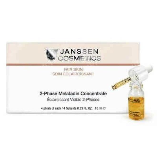 Janssen Cosmetics  Koncentrat dwufazowy MELAFADIN Fair Skin na przebarwienia Janssen (3370) 4 x 10ml Концентраты  оптом