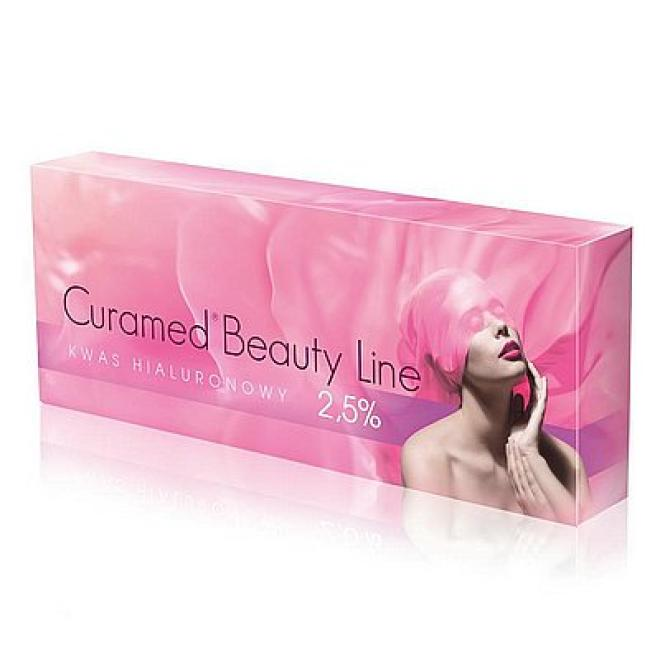 Curamed  Kwas Hialuronowy nieusieciowany Curamed Beauty Line 2.5% Curamed 1.5ml Медицина эстетическая - наполнители  --//-- оптом
