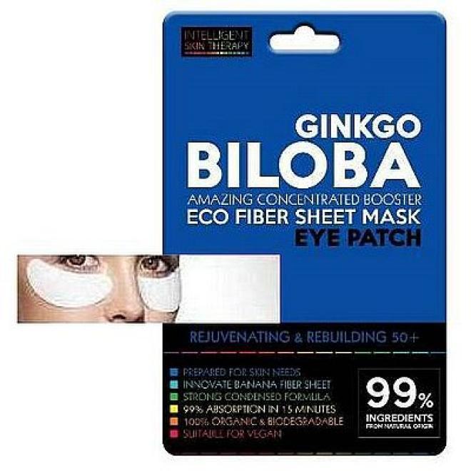 Beauty Face  Płatki pod oczy GINKGO BILOBA 50+ regeneracja i odmłodzenie Intelligent Skin Therapy Beauty Face 1 para Маски тканевые  оптом
