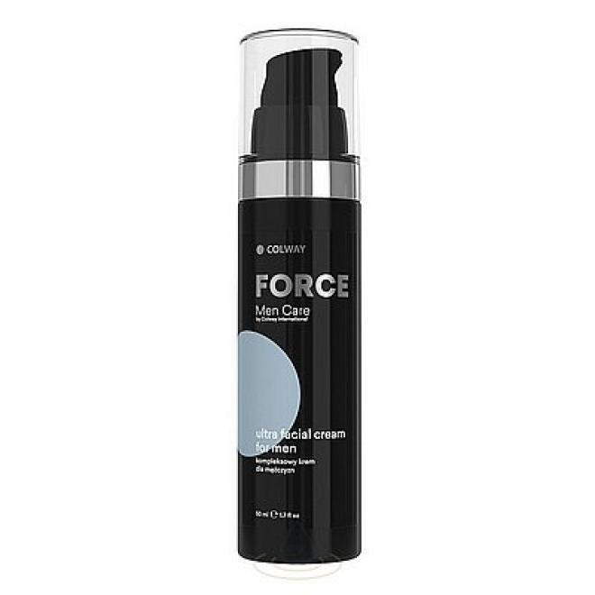 Colway  Krem Force Men Care Ultra Facial cream dla mężczyzn kompleksowy wielofunkcyjny Colway 50ml Мужская косметика  оптом