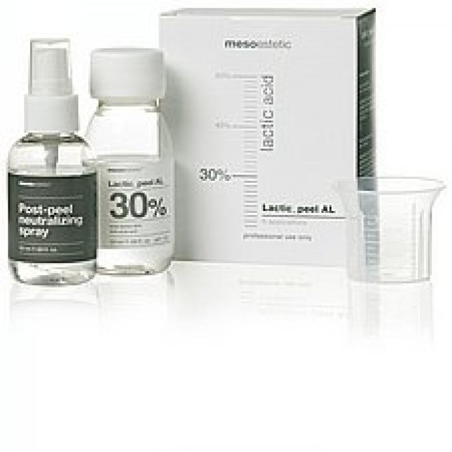 Mesoestetic  Peeling Kwas mlekowy 30% LACTIC PEEL AL 50ml + 50ml neutralizator Mesoestetic Mesopeel Медицинские кислоты и пиллинг  оптом