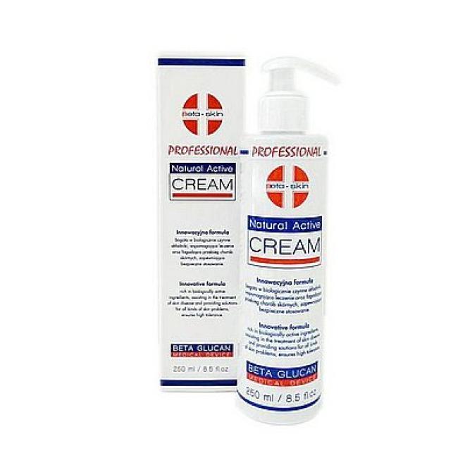 Beta - Skin  Beta Skin Natural Active Cream Professional Krem nawilżający łagodzący i po zabiegach 250ml Крем и препараты для проблемной кожи  оптом