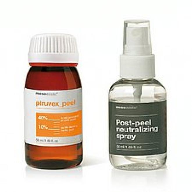 Mesoestetic  Peeling Kwas Pirogronowy Piruvex Peel 50ml + 50ml neutralizator Mesoestetic Mesopeel Piruvex DATA 06/2021 Медицинские кислоты и пиллинг  оптом
