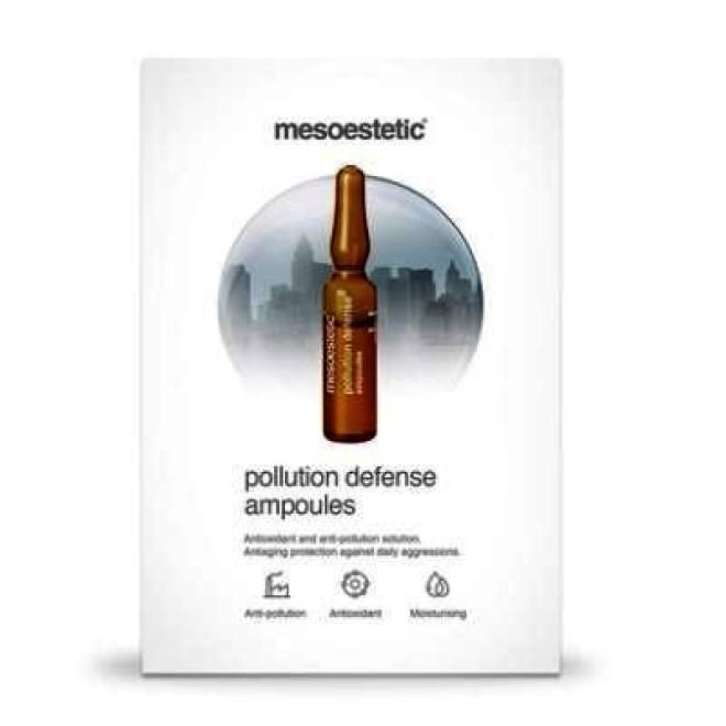 Mesoestetic  Ampułka Mesoestetic Pollution Defense Ampoules anti-aging ochrona przed szkodliwym wpływem czynników zewnętrznych 1 x 2ml Ампулы, мезотерапия  оптом