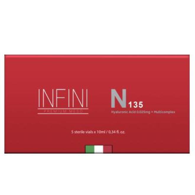 Infini  Koktajl INFINI Premium Meso N 135 HA głęboko nawilżający 5 x 10ml Мезотерапия иглами  оптом