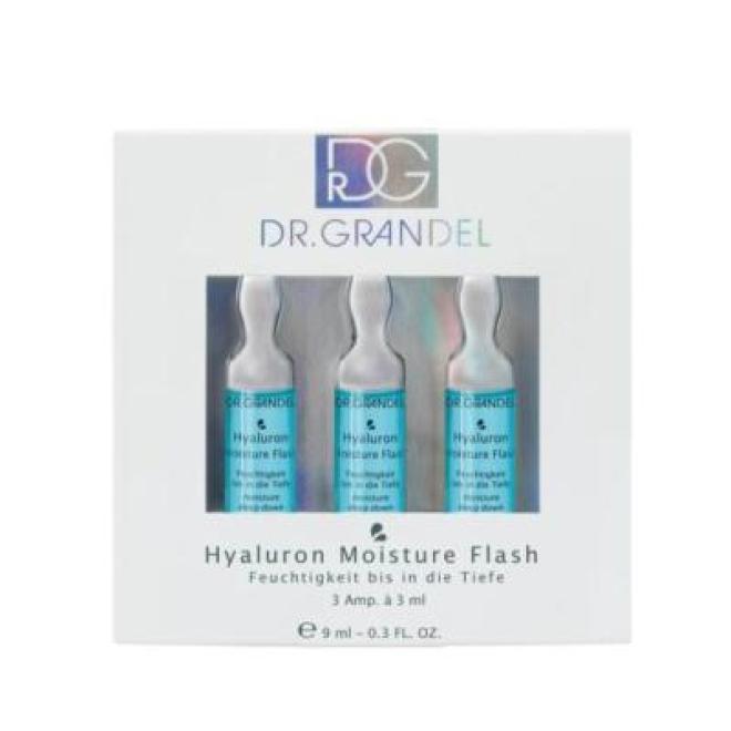 Dr. Grandel  Ampułki Dr Grandel Hyaluron Moisture Flash z mikro hialuronem i algami głęboko nawilżające 3 x 3ml Ампулы, мезотерапия --//-- оптом