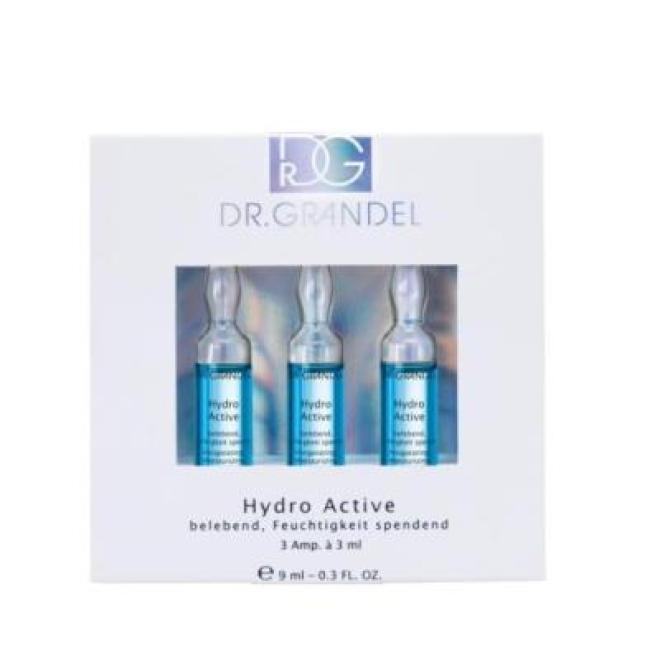Dr. Grandel  Ampułki Dr Grandel Hydro Active nawilżająco rewitalizujące z wodą morską i kofeiną 3 x 3ml Ампулы, мезотерапия --//-- оптом