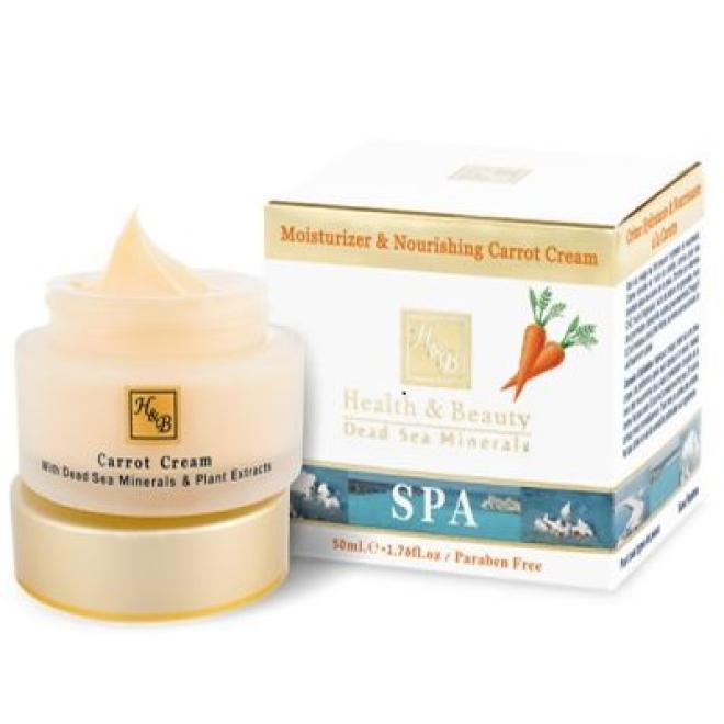 Health&Beauty Izrael  Krem marchewkowy nawilżająco-odżywczy minerały z Morza Martwego Health&Beauty Moisturizer & Nourishing Carrot Cream 50ml Мертвое море --//-- оптом