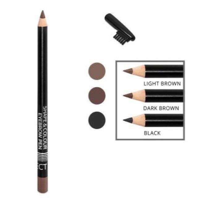 Affect  Kredka czarna do brwi ze szczoteczką Affect Shape&Colour Eyebrow Pen Black Макияж - глаза --//-- оптом