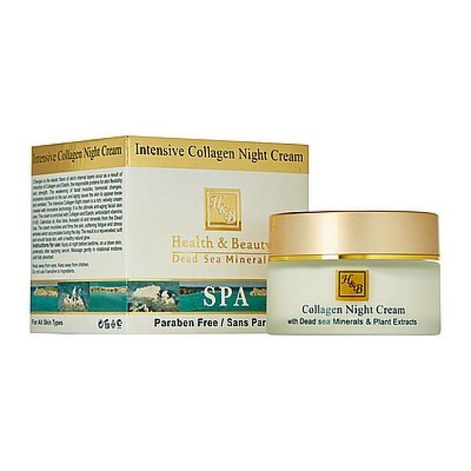 Health&Beauty Izrael  Krem na noc intensywny z kolagenem i minerałami z Morza Martwego Health & Beauty Intensive Collagen Night Cream 50ml Крем ночной --//-- оптом