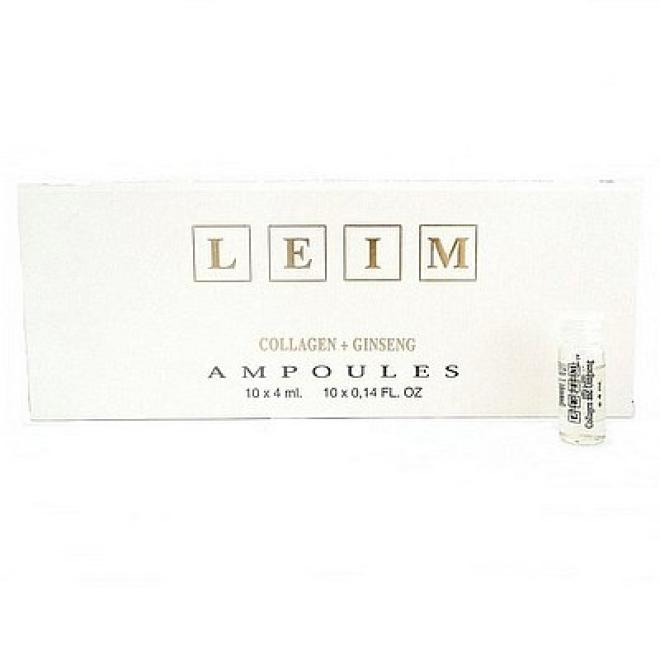 Leim  Ampułki KOLAGEN+ŻEŃSZEŃ Collagen-Ginseng Leim 10x4ml Ампулы, мезотерапия  оптом
