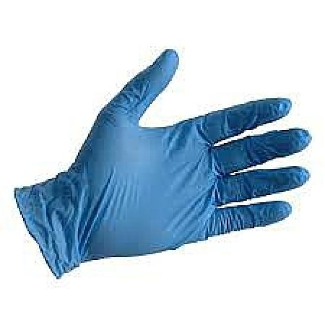 Inne  Rękawiczki nitrylowe bezpudrowe roz.M-100 szt niebieskie Артикулы одноразовые  оптом