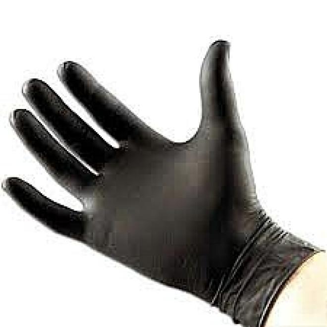 BL  Rękawiczki nitrylowe bezpudrowe roz.S-100 szt czarne Артикулы одноразовые  оптом