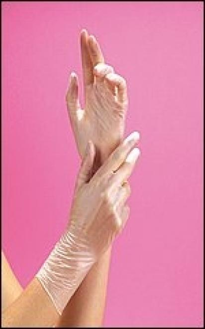 BL  Rękawiczki winylowe roz.M-100 szt Артикулы одноразовые  оптом