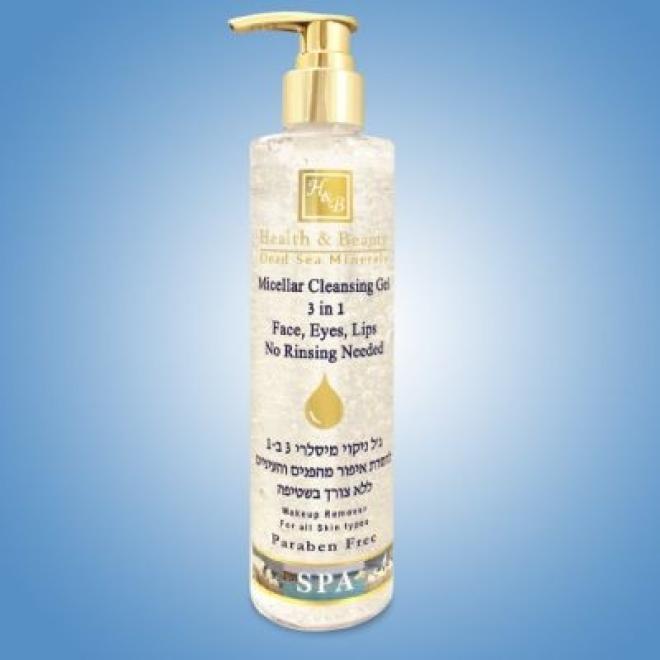 Health&Beauty Izrael  Żel micelarny Micellar Cleansing Gel do demakijażu twarzy oczu i ust 3w1 Health&Beauty 250 ml Демакияж  оптом