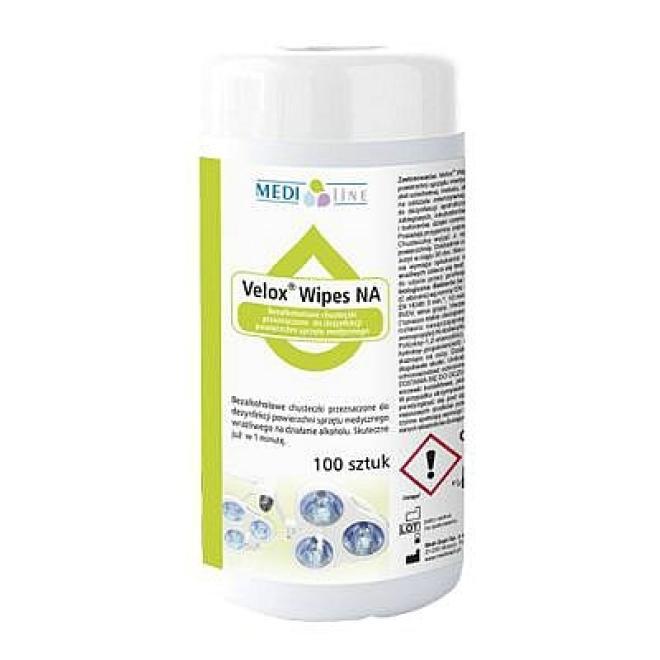 Inne  Chusteczki Velox Wipes alkoholowe do dezynfekcji małych powierzchni TUBA 100 sztuk Дезинфекция и моющие средства --//-- оптом